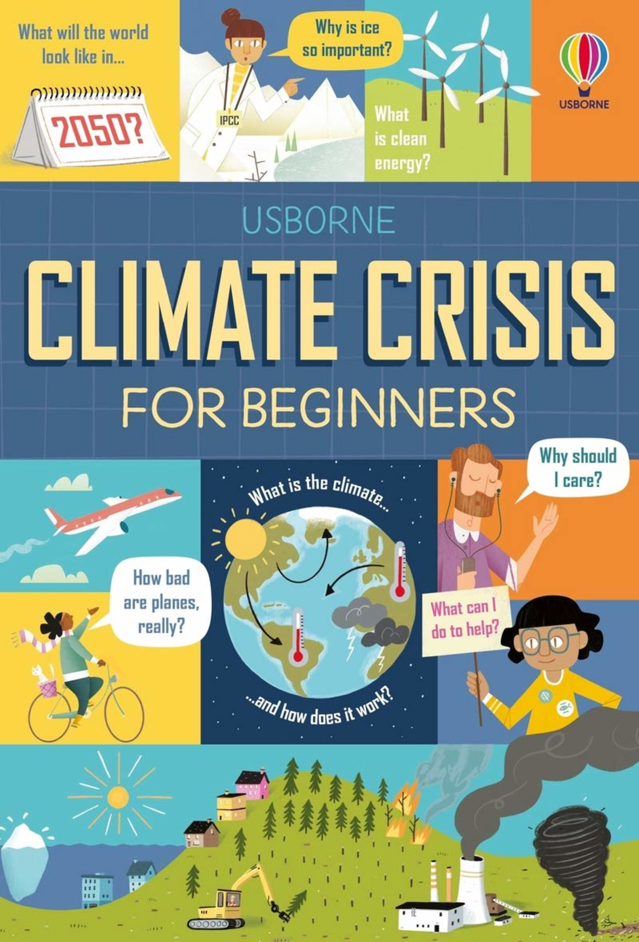 The book cover of Climate Crisis for Beginners by Andy Prentice and Eddie Reynolds