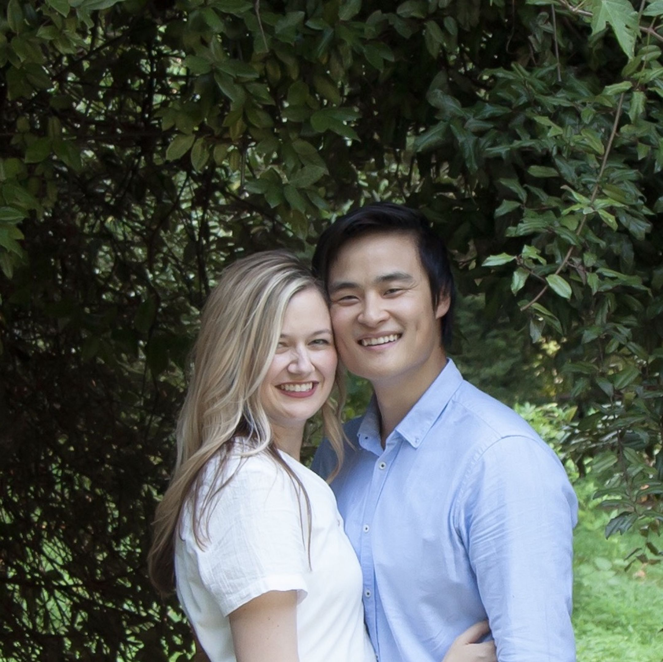 A photo of authors Katie and Kevin Tsang