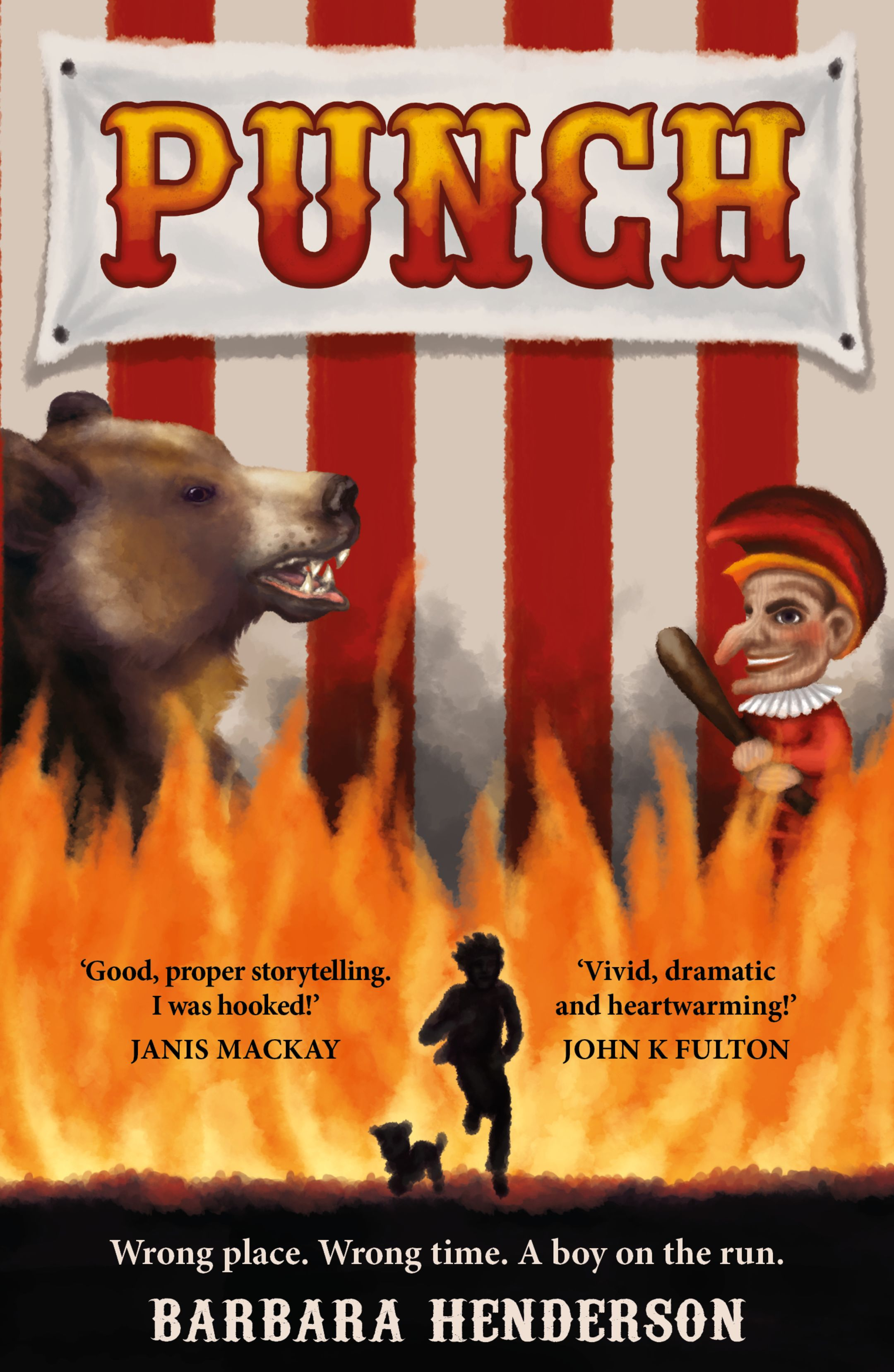 The book cover of Punch, by Barbara Henderson