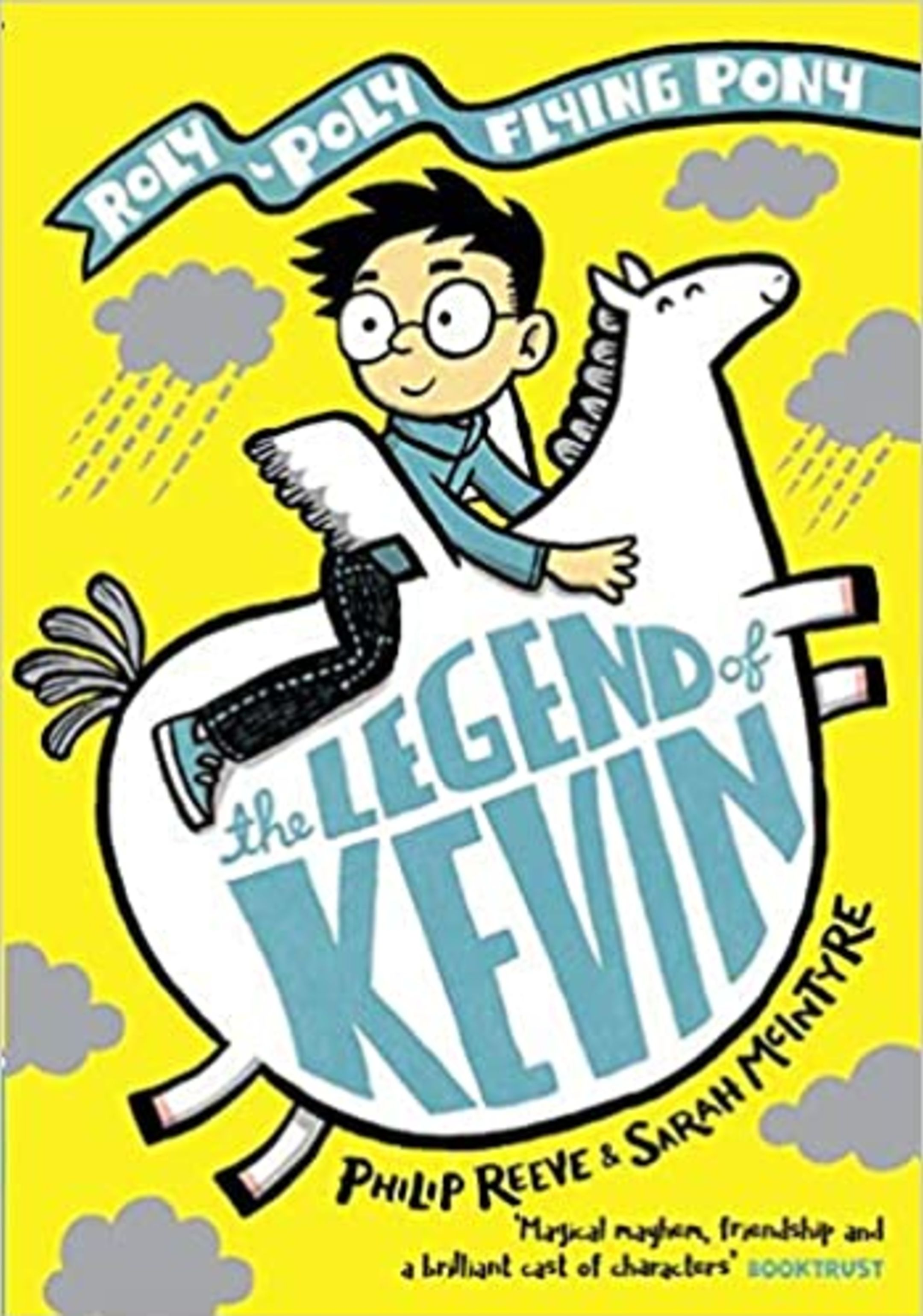 An image of the cover of the book, The Legend of Kevin, by Philip Reeve and Sarah McIntyre