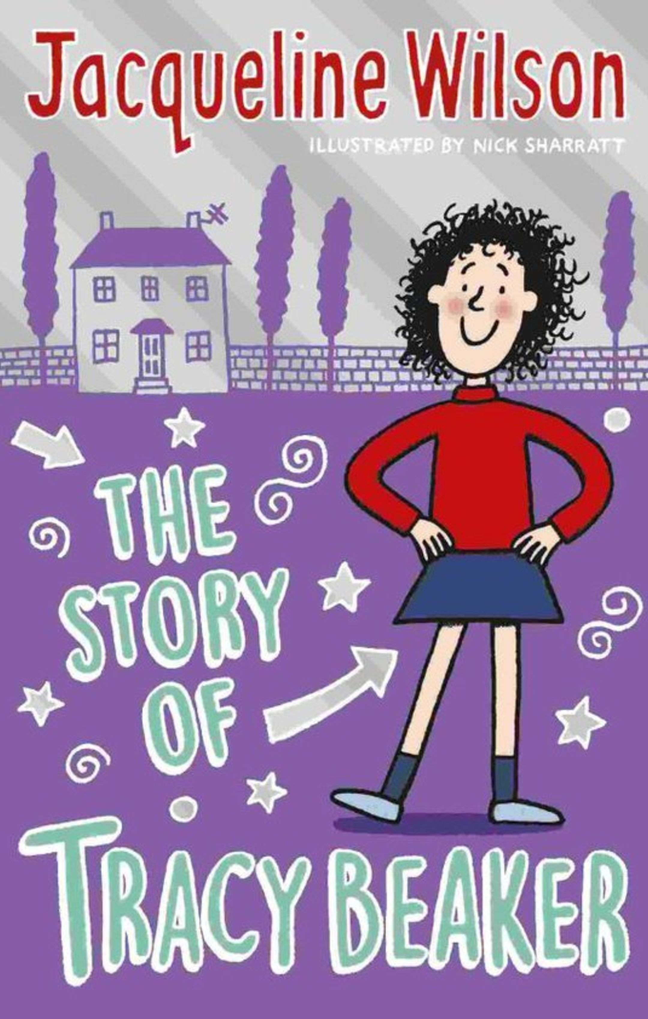 The book cover of The Story of Tracy Beaker, by Jacqueline Wilson