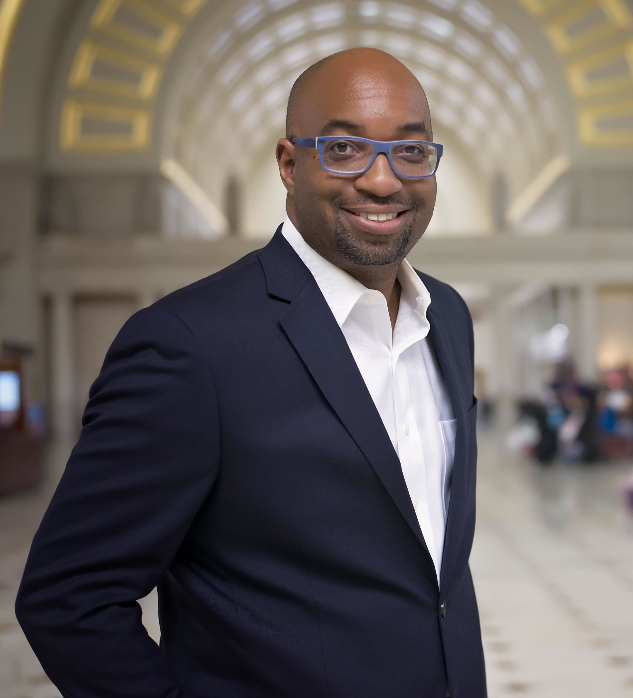 A photo of author of the week, Kwame Alexander.