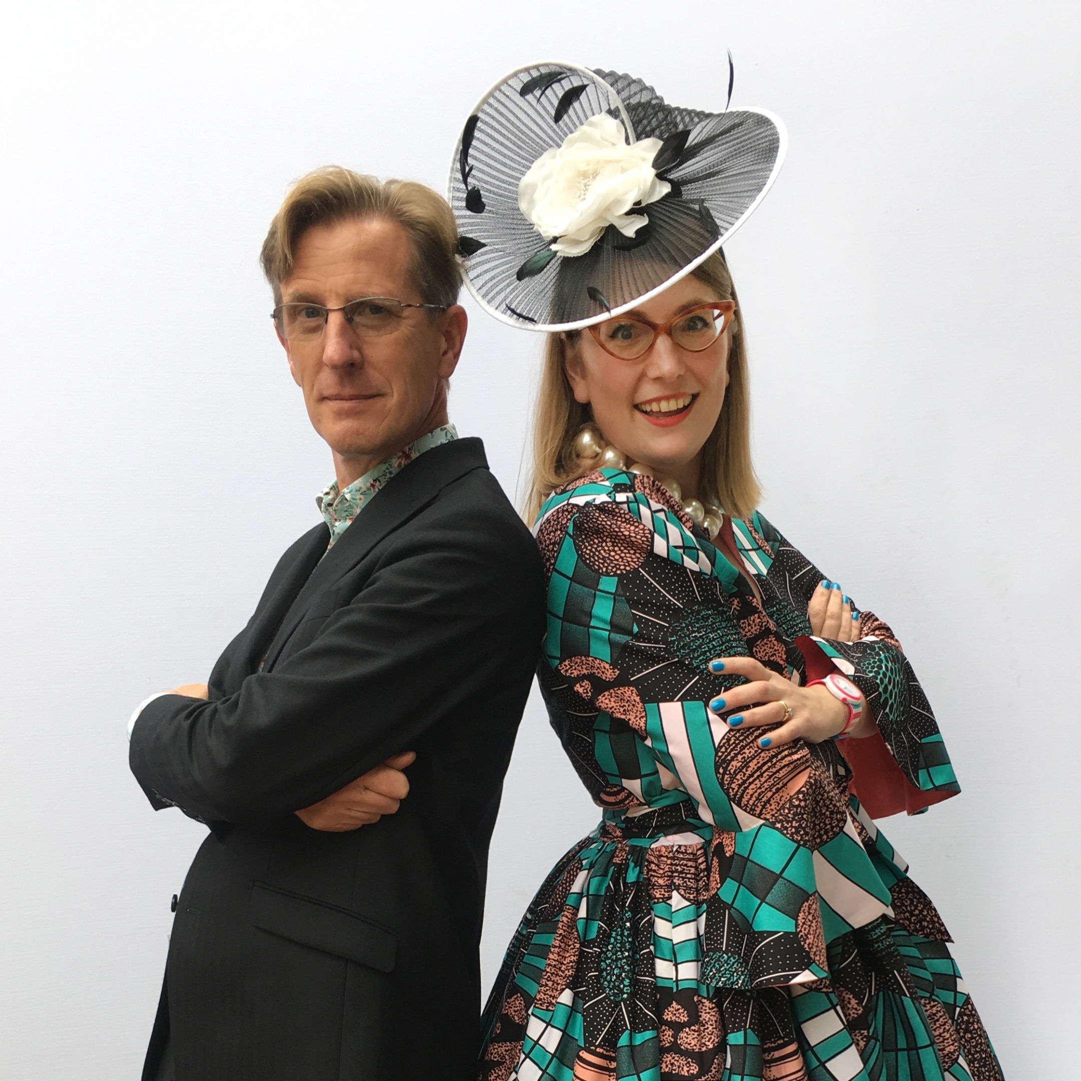 A photo of the authors Philip Reeve and Sarah McIntyre