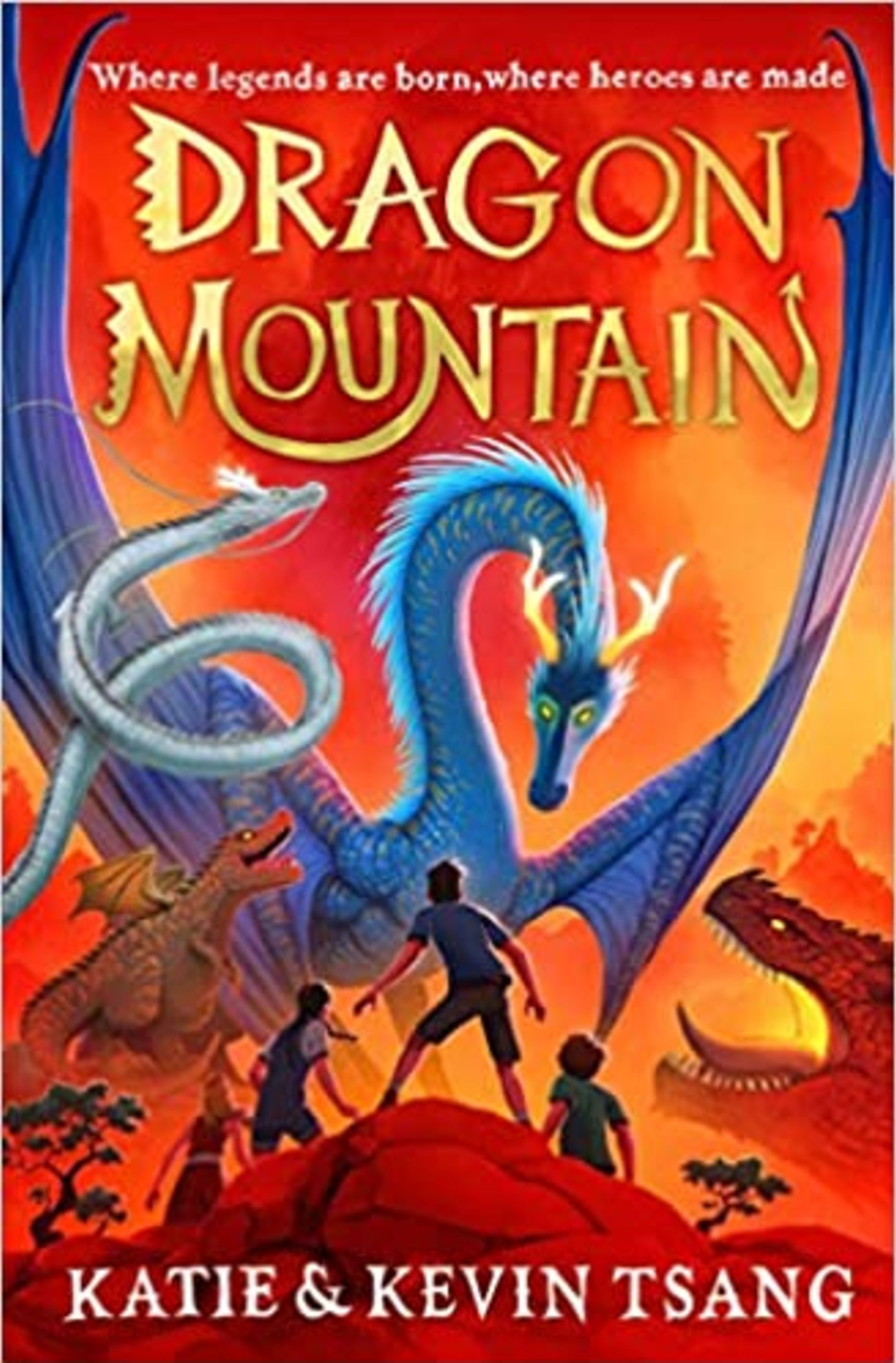 The book cover of Dragon Mountain, by Katie and Kevin Tsang