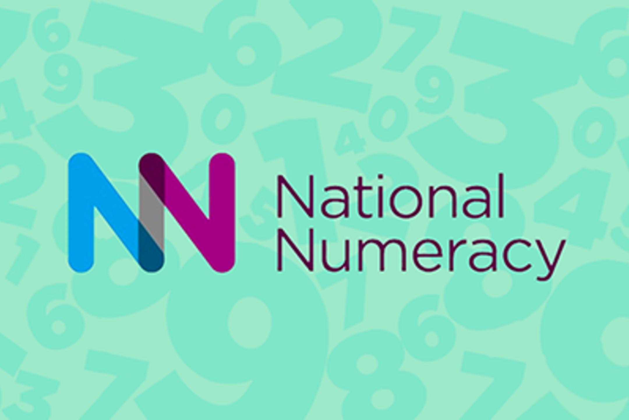 National Numeracy logo on green background.